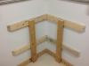2x4 horizontals anchored to walls