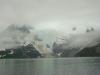 Foggy glacier